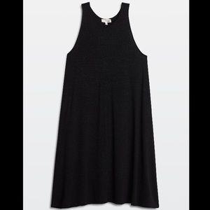 Wilfred Free black knit racerback swing dress XXS